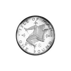 Man.-Isla de 1 Libra/Pound. 1979. AG. 4,6gr. Ley:0,925. Ø22mm. PRF. (Patina). KM. 44 a