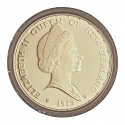 Nueva Zelanda 1 Dolar. 1979. AG. 27,216gr. Ley:0,925. (25º Anv.Coronación). Ø39mm. PRF. KM. 48 a