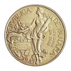 Panama 1  Balboa. 1947. AG. 26,73gr. Ley:0,900. (V.Nuñez). Ø38mm. EBC+/SC-. KM. 13