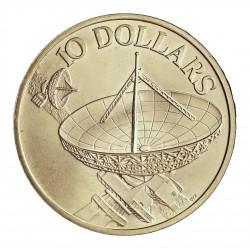 Singapur 10 Dolar. 1978. AG. 31,1gr. Ley:0,500. (Comunicaciones por Satelite). Ø40mm. SC. KM. 17.1