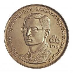 Thailandia 50 Baht. 1971. AG. 24,7gr. Ley:0,900. (20º Anv.Budismo). Ø40mm. SC. KM. 95