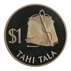 Tokelau.-Islas 1 Thala. 1979. AG. 27,25gr. Ley:0,925. (Bolsa del pescador y anzuelo). Ø39mm. PRF. KM. 2 a