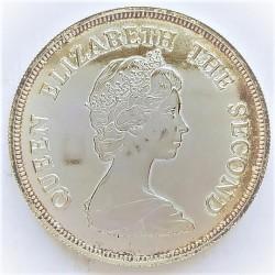 Tuvalu 10 Dolar. 1980. AG. 35gr. Ley:0,500. (80º Anv.Reina Madre). Ø41mm. SC. KM. 11