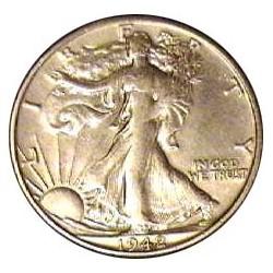 Usa ½ Dolar. 1942. S-(St.Francisco). AG. 12,5gr. Ley:0,900. Ø30mm. MBC/MBC+. KM. 142