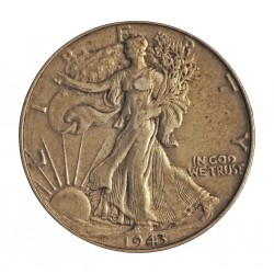 Usa ½ Dolar. 1943. Filadelfia. AG. 12,5gr. Ley:0,900. (Liberty). Ø30mm. MBC+. KM. 116