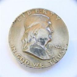 Usa ½ Dolar. 1952. Filadelfia. AG. 12,5gr. Ley:0,900. (Franklin). Ø30mm. EBC. (Marquitas). KM. 199