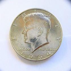 Usa ½ Dolar. 1964. D-(Denver). AG. 12,5gr. Ley:0,900. (Tip.Kennedy). Ø30mm. MBC+. (Marquitas). KM. 202