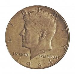 Usa ½ Dolar. 1964. Filadelfia. AG. 12,5gr. Ley:0,900. (Imagen tipo). (Tip.Kennedy). Ø30mm. EBC+/SC-. KM. 202