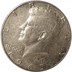Usa ½ Dolar. 1965. Filadelfia. AG. 11,5gr. Ley:0,400. (Tipo Kennedy). Ø30mm. EBC+/SC-. KM. 202 a