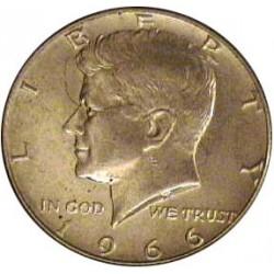 Usa ½ Dolar. 1966. Filadelfia. AG. 11,5gr. Ley:0,400. (Tipo Kennedy). Ø30mm. EBC+/SC-. KM. 202 a