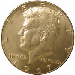 Usa ½ Dolar. 1967. Filadelfia. AG. 11,5gr. Ley:0,400. (Tipo Kennedy). Ø30mm. SC-. KM. 202 a