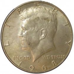 Usa ½ Dolar. 1968. Filadelfia. AG. 11,5gr. Ley:0,400. (Tipo Kennedy). Ø30mm. SC-. KM. 202 a