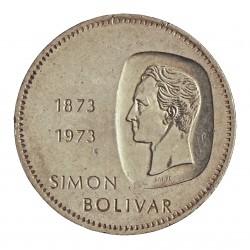 Venezuela 10 Bolivares. 1973. AG. 30gr. Ley:0,900. (Simon Bolivar). Ø39mm. MBC/MBC+. Gpcto. KM. 45