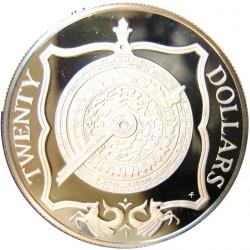 Virgenes.-Islas 20 Dolar. 1985. AG. 19,09gr. Ley:0,925. (Cuadrante). Ø38mm. PRF. KM. 54