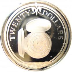 Virgenes.-Islas 20 Dolar. 1985. AG. 19,09gr. Ley:0,925. (Reloj de Bolsillo). Ø38mm. PRF. KM. 71