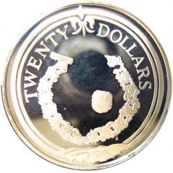 Virgenes.-Islas 20 Dolar. 1985. AG. 19,09gr. Ley:0,925. (Brazalete de Oro). Ø38mm. PRF. KM. 72