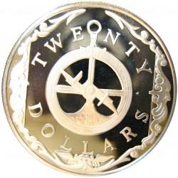 Virgenes.-Islas 20 Dolar. 1985. AG. 19,09gr. Ley:0,925. (Astrolabio). Ø38mm. PRF. KM. 62