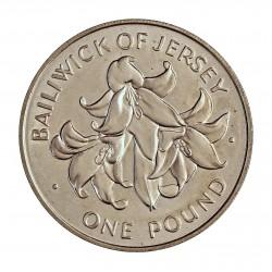 Jersey 1 Libra/Pound. 1972. AG. 10,84gr. Ley:0,925. (25º Anv.Boda). Ø30mm. SC. KM. 36