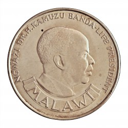 Malawi 10 Kwacha. 1974. AG. 28,28gr. Ley:0,925. (10º Anv.Independencia). Ø38mm. PRF. KM. 13