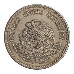 Mejico 5 Pesos. 1948. Mejico. AG. 30gr. Ley:0,900. (Imagen tipo). (Cuauhtemoc). Ø40mm. KM. 465