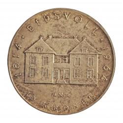 Noruega 10 Kroner. 1964. AG. 20gr. Ley:0,900. (Constitucion). Ø40mm. SC-. KM. 413