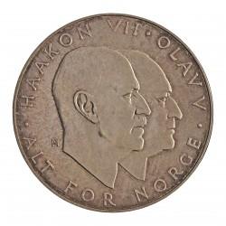 Noruega 25 Kroner. 1970. AG. 29gr. Ley:0,875. (25º Anv.Liberación). Ø39mm. SC. KM. 414
