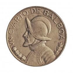 Panama ¼ Balboa. 1930. AG. 6,25gr. Ley:0,900. (N.de Balboa). Ø24mm. MBC. KM. 11.1