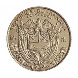 Panama ¼ Balboa. 1962. AG. 6,25gr. Ley:0,900. (N. de Balboa(. Ø24mm. EBC+/SC-. KM. 11.2