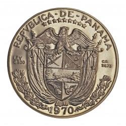 Panama 1 Balboa. 1966. AG. 26,73gr. Ley:0,900. (V.Nuñez). Ø38mm. PRF. KM. 27