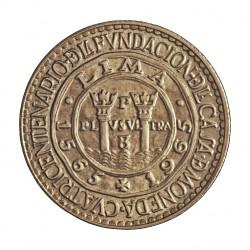 Peru 20 Soles. 1965. AG. 8gr. Ley:0,900. 400º Anv.Fca.Moneda. Ø26mm. SC. KM. 241