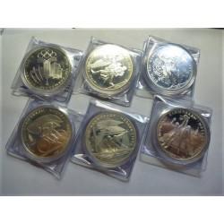 Rusia-URSS 10 Rublos. 1977. 1980. AG. 466,2gr. Ley:0,900. (14 Monedas de 10 Rublos(. (SERIE COMPLETA-14 Mdas.)-(Olimp.-Moscu).