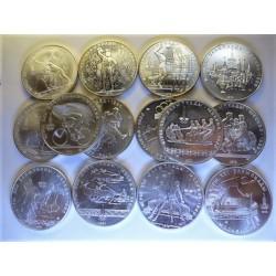 Rusia-URSS 10 Rublos. 1977. 1980. AG. 466,2gr. Ley:0,900. (14 Monedas de 10 Rublos. (SERIE COMPLETA-14 Mdas.)-(Olimp.-Moscu).