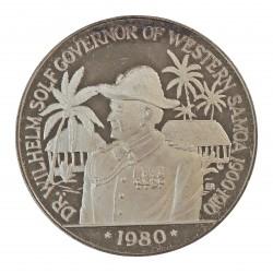 Samoa y Sisifo.-W. 10 Tala. 1980. AG. 31,47gr. Ley:0,925. (Gobernador W.Solf). Ø38mm. PRF. KM. 41 a