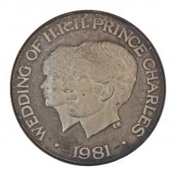 Samoa y Sisifo.-W. 10 Tala. 1981. AG. 31,47gr. Ley:0,925. (Boda Carlos y Diana). Ø38mm. PRF. KM. 44