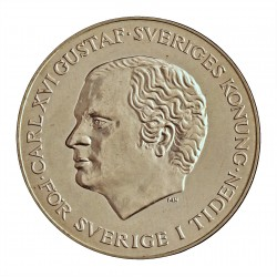Suecia 200 Kronor. 1980. AG. 27gr. Ley:0,925. (Sucesion Real). Ø36mm. PRF. KM. 860