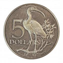 Trinidad y Tobago 10 Dolar. 1971. AG. 29,7gr. Ley:0,925. (Ave Scarlet Ibis-10º Anv. Indep.). Ø40mm. PRF. KM. 15