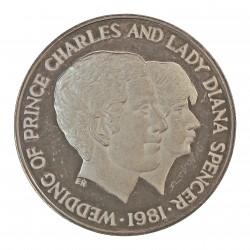 Uganda 100 Shilling. 1981. AG. 31,47gr. Ley:0,925. (Boda de Carlos y Diana). Ø38mm. PRF. KM. 22