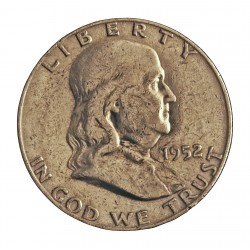 Usa ½ Dolar. 1952. D-(Denver). AG. 12,5gr. Ley:0,900. (Franklin). Ø30mm. MBC-. KM. 199