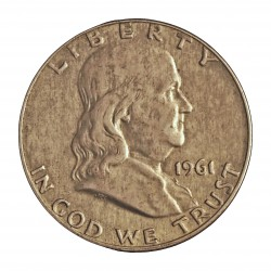 Usa ½ Dolar. 1961. D-(Denver). AG. 12,5gr. Ley:0,900. (Franklin). Ø30mm. EBC-. KM. 199