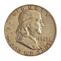 Usa ½ Dolar. 1963. D-(Denver). AG. 12,5gr. Ley:0,900. (Franklin). Ø30mm. EBC. KM. 199