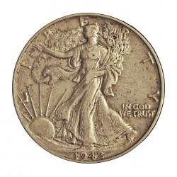 Usa ½ Dolar. 1942. Filadelfia. AG. 12,5gr. Ley:0,900. (Liberty). Ø30mm. MBC. KM. 142
