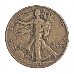 Usa ½ Dolar. 1943. Filadelfia. AG. 12,5gr. Ley:0,900. (Liberty). Ø30mm. BC/BC+. KM. 142