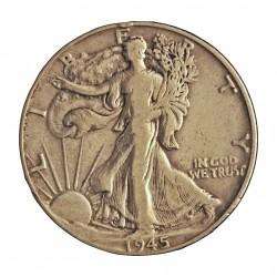 Usa ½ Dolar. 1945. Filadelfia. AG. 12,5gr. Ley:0,900. Ø30mm. MBC-. KM. 142