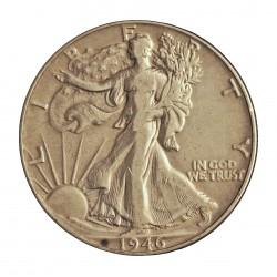Usa ½ Dolar. 1946. Filadelfia. AG. 12,5gr. Ley:0,900. Ø30mm. BC+/MBC-. KM. 142