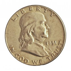 Usa ½ Dolar. 1951. Filadelfia. AG. 12,5gr. Ley:0,900. (Franklin). Ø30mm. EBC. KM. 199