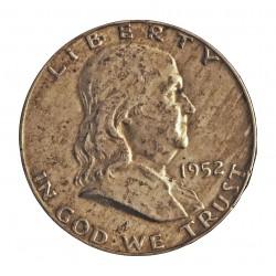 Usa ½ Dolar. 1952. Filadelfia. AG. 12,5gr. Ley:0,900. (Franklin). Ø30mm. EBC+. KM. 199