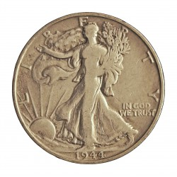 Usa ½ Dolar. 1944. S-(St.Francisco). AG. 12,5gr. Ley:0,900. (Liberty). Ø30mm. BC-/BC. KM. 142