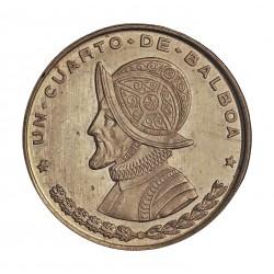 Panama ¼ Balboa. 1961. AG. 6,25gr. Ley:0,900. Ø24mm. PRF. (Insig.marquita). (KM. no cita en esta calidad de acuñación). KM. 25
