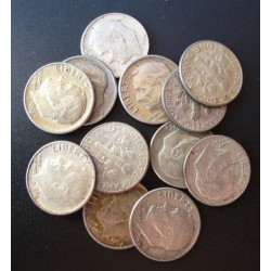 Usa LOTE. 1964. D-(Denver). AG. 30gr. Ley:0,900. (12 Monedas). (12 Monedas de 1 Dime $--J.R.Sinnock). Ø17mm. EBC. KM. 195