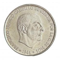 España 100 Ptas. 1966. *19*70. AG. 19gr. Ley:0,800. Ø34mm. SC-/SC. (Tono original). CT. 18 - HG. 356